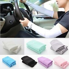 UV Sun Protection Arm Sleeves Stretch Cooling Sports Golf Running Covers WD AU