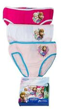 NEW Official FROZEN Girls Multipack Cotton Knickers Pants Underwear Set 3 Pairs