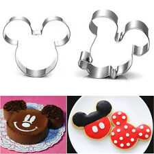 1 x Mickey Mouse Silver Sushi Cutter Cake Mold Cookie Home Kitchen Decor