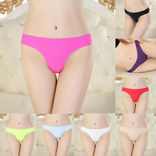 Women Sexy Invisible Underwear Thong Cotton Briefs Gas Seamless Crotch Panties