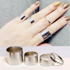 Fashion Korean Punk Stylish Women Punk Round Rings Finger Fashion Ring 4pcs/set