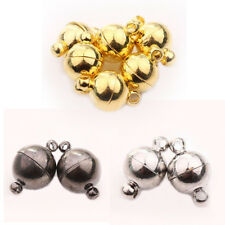 5/10Set Silver Gold White K Gun Black Ball Round Strong Magnetic Clasps 6/8/10mm