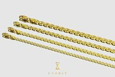 "3.5mm - 6.5mm 14k Gucci Mariner Style Solid Yellow Gold Chain Necklace 16"" - 30"""