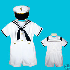 NEW Baby Boy & Toddler Easter Sailor Formal Party Suit Outfits NAVY SZ: S,M,L-4T