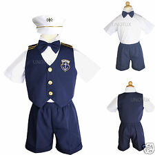 NEW Baby Boy Toddler Sailor Navy Easter Formal Suit Outfits Set New Born to 3T