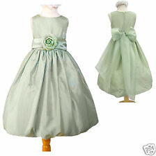 New Toddler & Girl Easter Wedding Formal Party Dress Sage size: 2 4 6 8 10 12