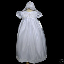 New Baby Girl & Toddler Christening Baptism Formal Dress Gown size 0M-30M white