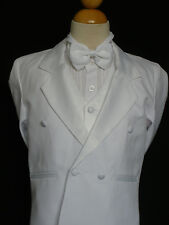 white Baby Toddler & Boy Wedding Baptism Formal Tuxedo Suit S M L XL 2T 3T 4T