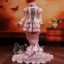 Japan Anime Chobits Chi LOLITA Pink Ball Gown Evening dress Cosplay Costume Hot