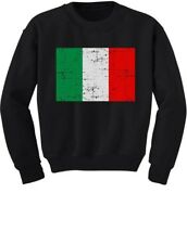 Italy Flag Vintage Style Retro Italian Youth Kids Sweatshirt Gift Idea