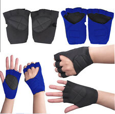 NEW Outdoor Weight Lifting Training Workout GYM Palm Exercise Fingerless Gloves