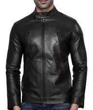 Biker Leather Motorcycle Jacket For Men, Made from Genuine Indian Sheep Leather