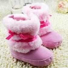 Baby Boys Girls Winter Warm Snow boots Cute Bow-knot Toddler Soft Fleece Shoes