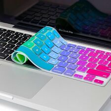 2 pcs Metallic re-used Silicone Keyboard Cover Skins For Macbook Pro Retina Air