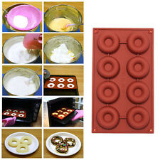 8/18-Cavity Donut Doughnut Baking Molds Cake Chocolate Candy Soap Silicone Mould