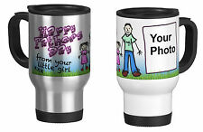 Personalised Travel Mug with Your Photo, Father's day,  from your litle girl