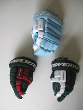 Powertek Q5 Hockey Gloves! Brand New, JR & SR Sizes, Green Pink Minnesota Blue