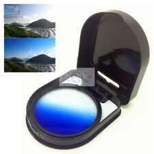 37 40.5 46 49 52 55 58 62 67 72 77 82 Gradual Graduated Blue Color Lens Filter