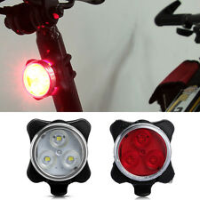 1x Bicycle Bike 3 LED Head Front Rear Tail light USB Rechargeable 4 Modes SP1