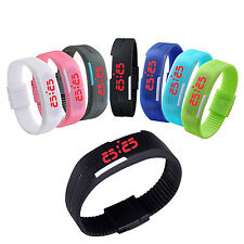 Men Women LED Watch Waterproof Sports Wrist Watch Bracelet Digital Wristwatch