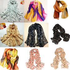 Women Fashion Chinese Ink Style Scarf Pattern Wrap Lady Shawl Chiffon Scarves