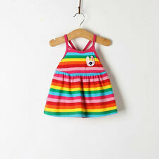 Baby Dress Cute Princess Dress Baby Girl Sleeveless Cool Summer Striped Dresses