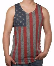 Men's American Flag Tank Top Burnout Graphic Tank Tee Shirt Tee S M L XL XXL 2XL