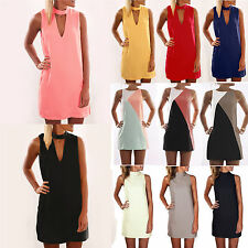 Plus Size Women Fashion Mini Tunic Dress Ladies Summer Sleeveless Long Loose Top