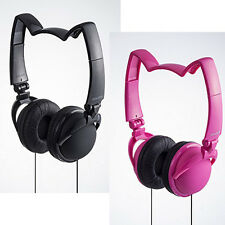 Mix Style Cat Ear Headphone Nekomimi / Cute Kawaii Cosplay / Plain Black Pink