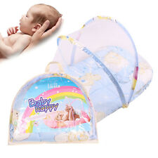 Portable Folding Baby Bed  Travel Crib Bed Canopy Mosquito Net Tent With Pillow
