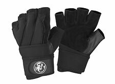 Scorpion Power Lifting Men's Weight Lifting Gloves with Long Neoprene Wrist Wrap