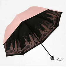 Three-folder rain umbrella women fashion UV-proof coating sun umbrella city