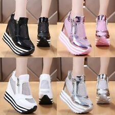 NEW Womens Shoes Fashion Sneakers Patent Leather Platform Wedges Sport Sandals