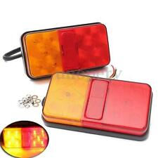 PAIR 12V 10 LED TRUCK TRAILER REAR TAIL LIGHT STOP INDICATOR REVERSE LAMP E-MARK