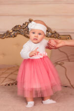 Baptism Dress Girl Christening White Outfit Newborn Different Color Tutu Dress