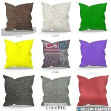 LARGE CUSHION COVERS EURO CONTINENTAL  FAUX MONGOLIAN/CHENILLE DECO/SCATTER