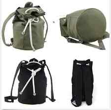 Military Backpack  Hiking Satchel Messenger Bag Men's Canvas Travel Rucksack