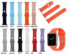 3pcs Set Sport Silicone Bracelet Watch Band Wrist Strap For Apple Watch 38/42mm