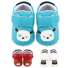 Cute Baby Boys Girls Owl Crib Shoes Soft Sole Toddler prewalking Shoes 0-18month