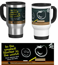 Personalised Travel Mug,Teacher Gift, End of the year, crayons (with you text)
