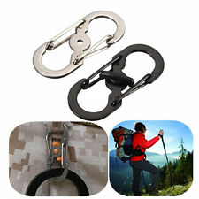 Hot 1pc Buckle Lock Carabiner locking Hook Clip Hiking Camping Climbing Keychain