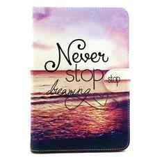Never Stop Present Leather Flip Smart Stand Case Cover For Apple iPad Mini 1 2 3