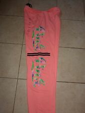 VICTORIAS SECRET PINK TROPICAL PRINT CAMPUS PANT SWEATPANTS NWT