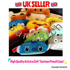 Fashionable Plush Cartoon Fluffy Pencil case Cosmetic bag|| UK SELLER