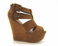 Womens Fashion Summer Wedge Sandal Platform Shoe Strappy High Heel Party Daily