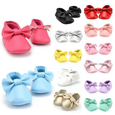 Baby Infant Tassel Soft Sole Leather Crib Shoes Boys Girls Prewalker 0-18 Months