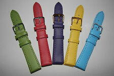 18mm Watch Strap Straps Choice of Pastel Colours Genuine Leather Band