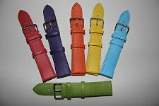20mm Watch Strap Straps Choice of Pastel Colours Genuine Leather Band