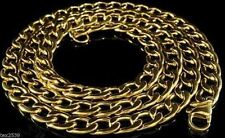 "USA 18K Gold 10mm Overlay Miami Cuban Curb Necklace 18""- 36"" LIFETIME WARRANTY"
