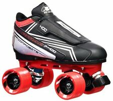 NEW Pacer Tarmac Remix Quad Roller Speed Skates w/ Red Dart Wheels!